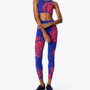 Tory Burch Pants - NW! TORY BURCH Soho Floral Leggings, Red/Blue